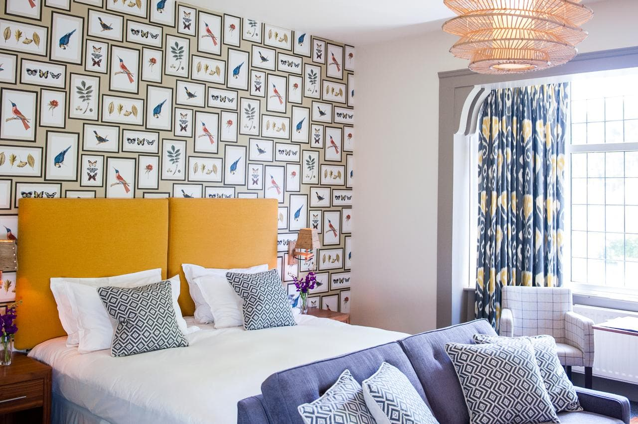 Stylish bedroom at The Canford Hotel, Poole