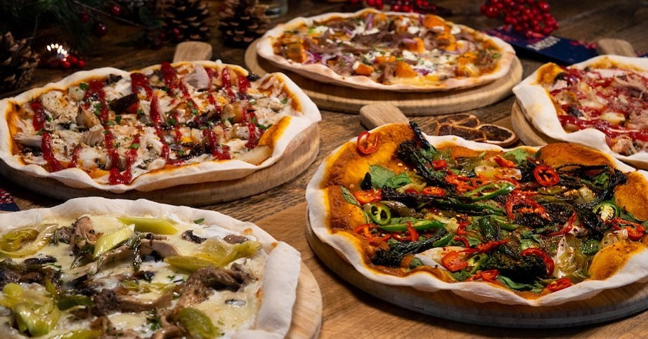 Pizzas at The Poole Stable