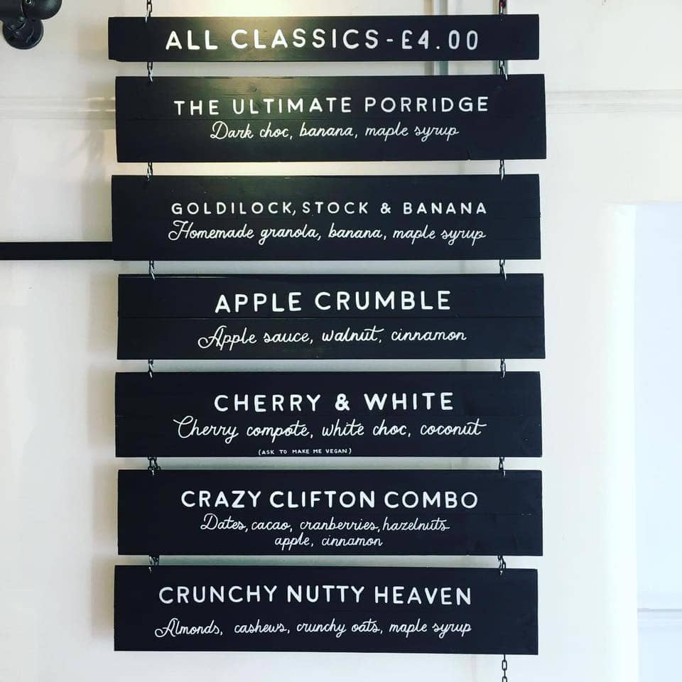 On the menu at the Bristol Porridge Project