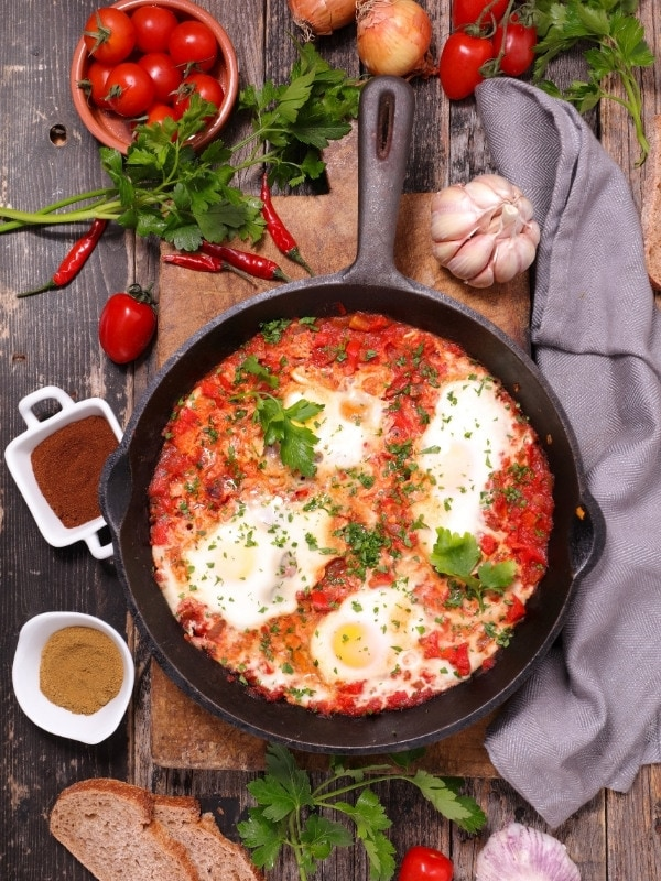 Shakshuka is one of our favourite brunch dishes