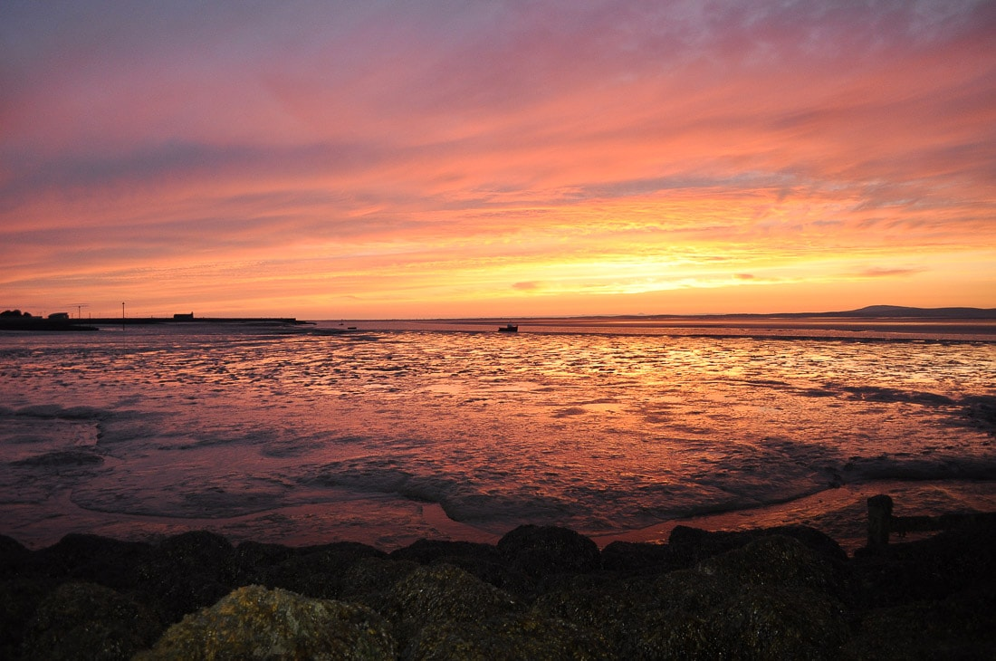 Spectacular sunset in Morecambe