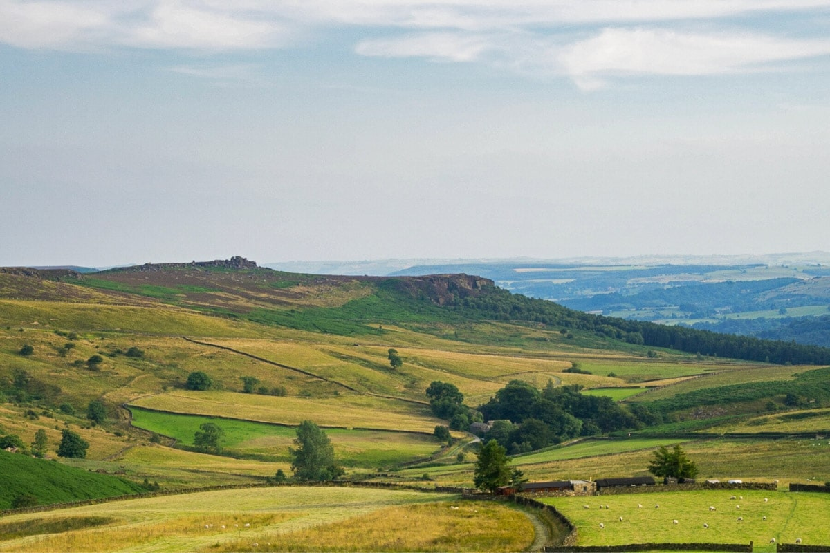 Beautiful views over the Peak District, England