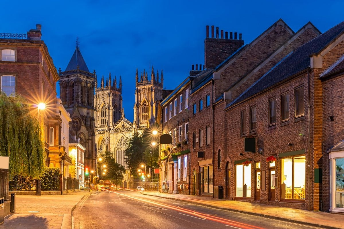 York Minster at night