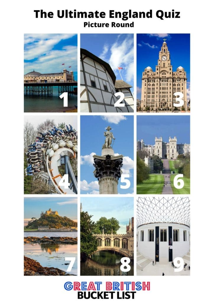 England quiz questions - picture round