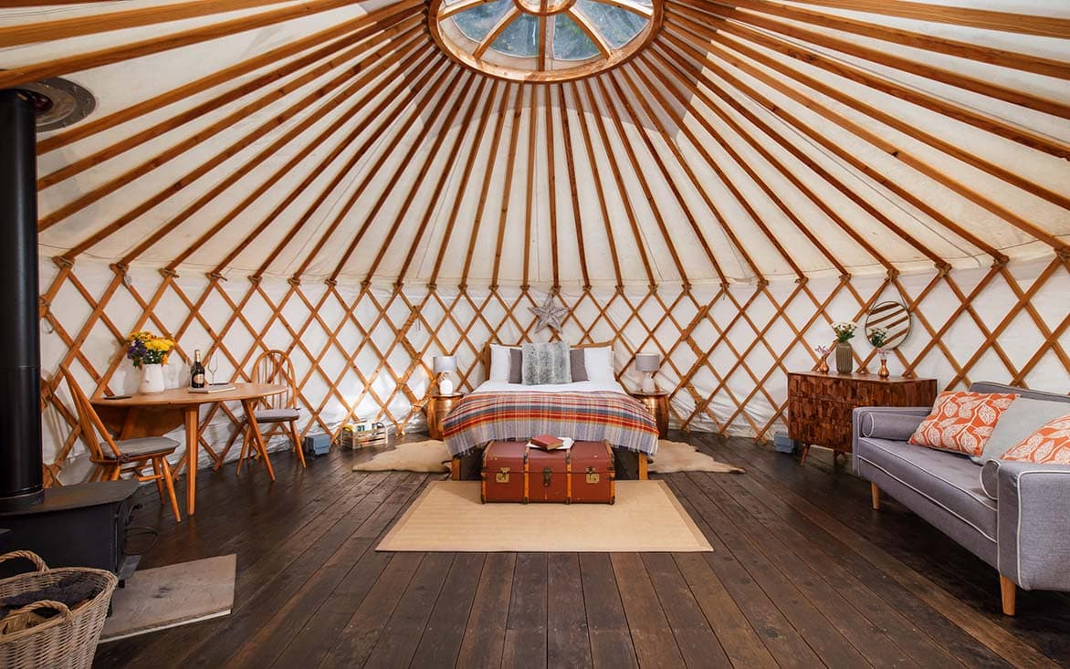 Larch Yurt, Somerset, England