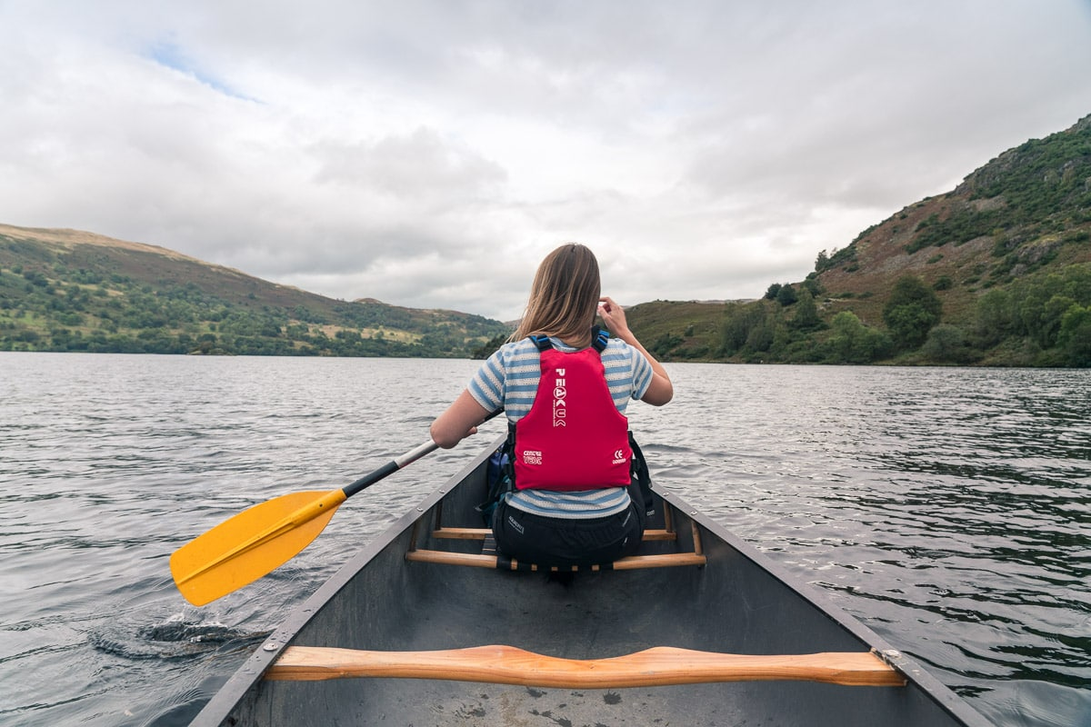 Canoeing on Ullswater