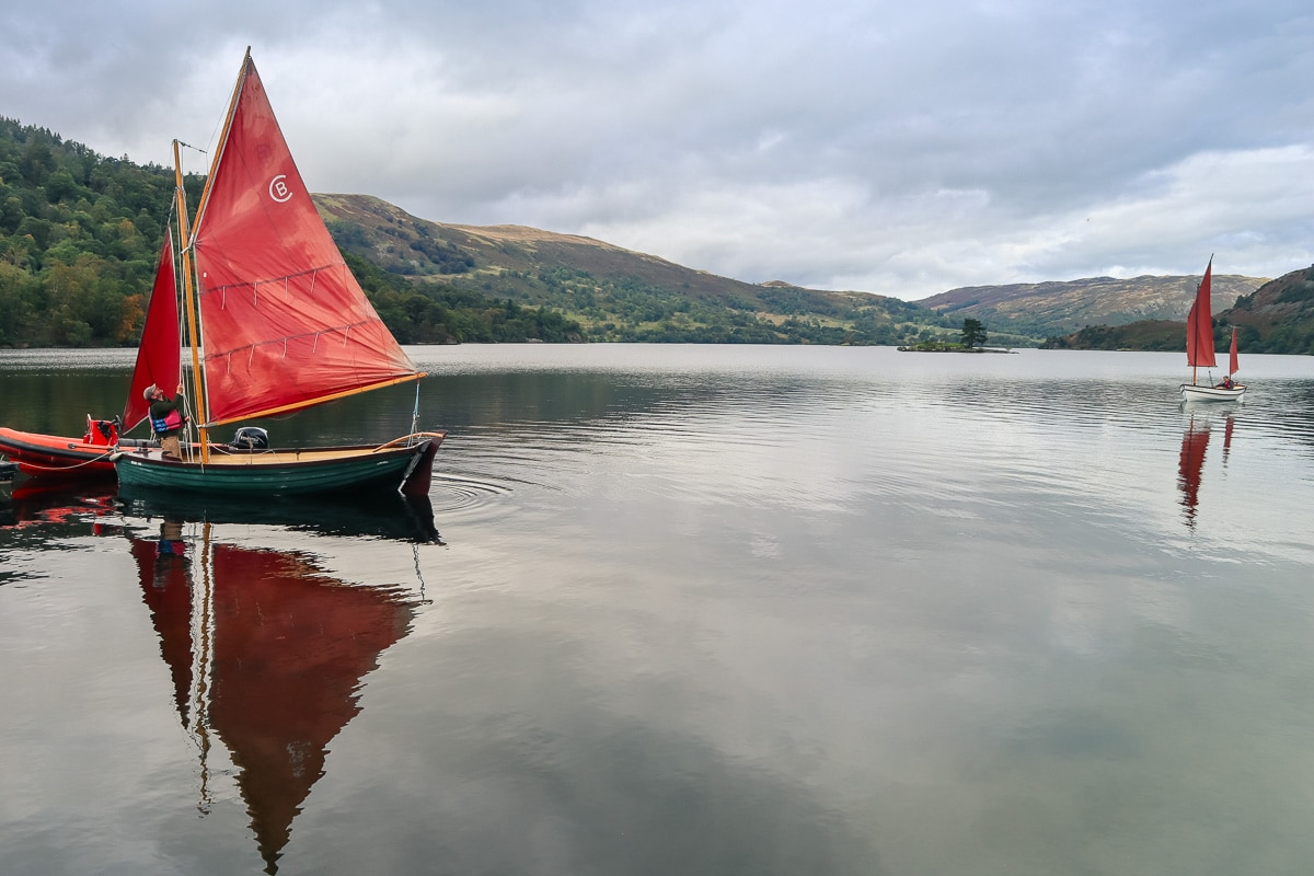 Sailing yachts on Ullswater