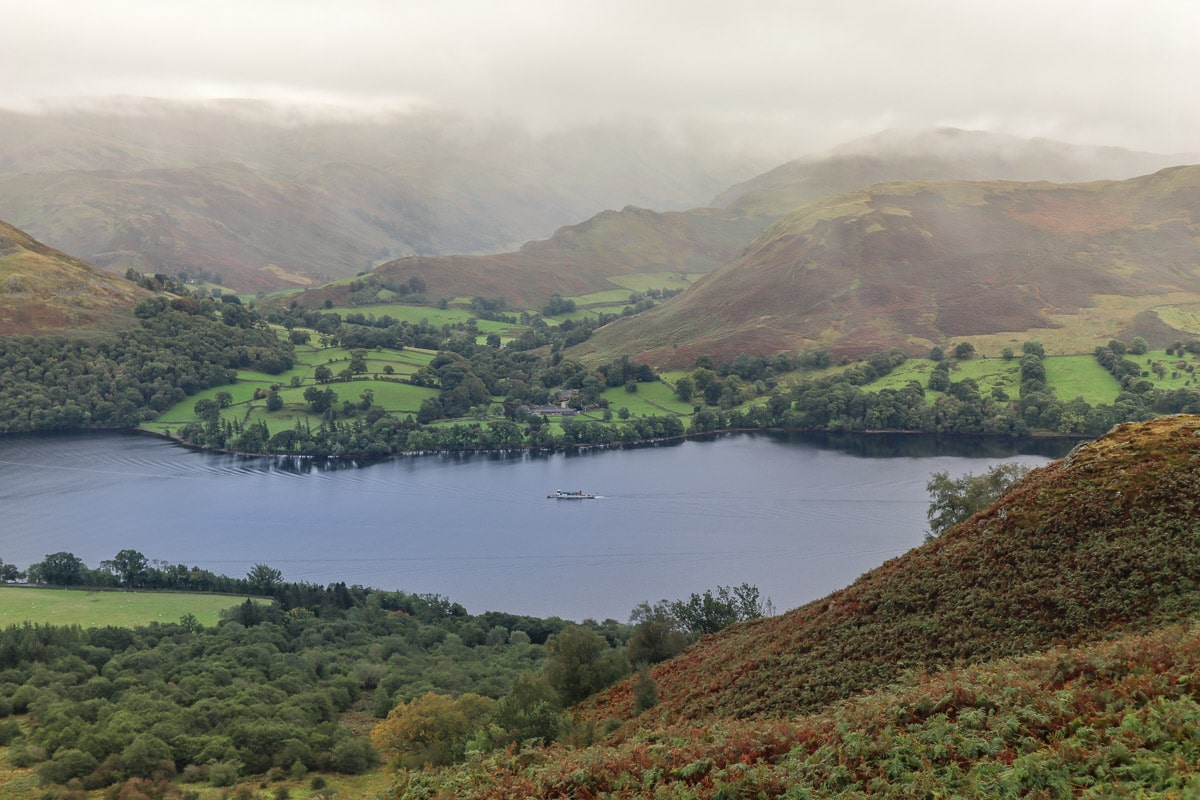 Views over Ullswater on the Aira Force hike