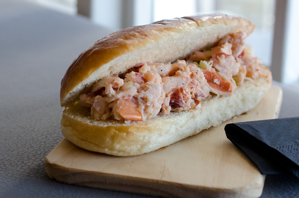 Lobster roll at Bin Two, Padstow
