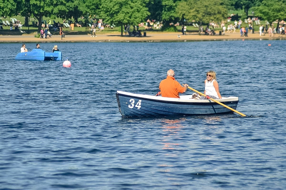 Rowing boat on The Serpentine, Hyde Park