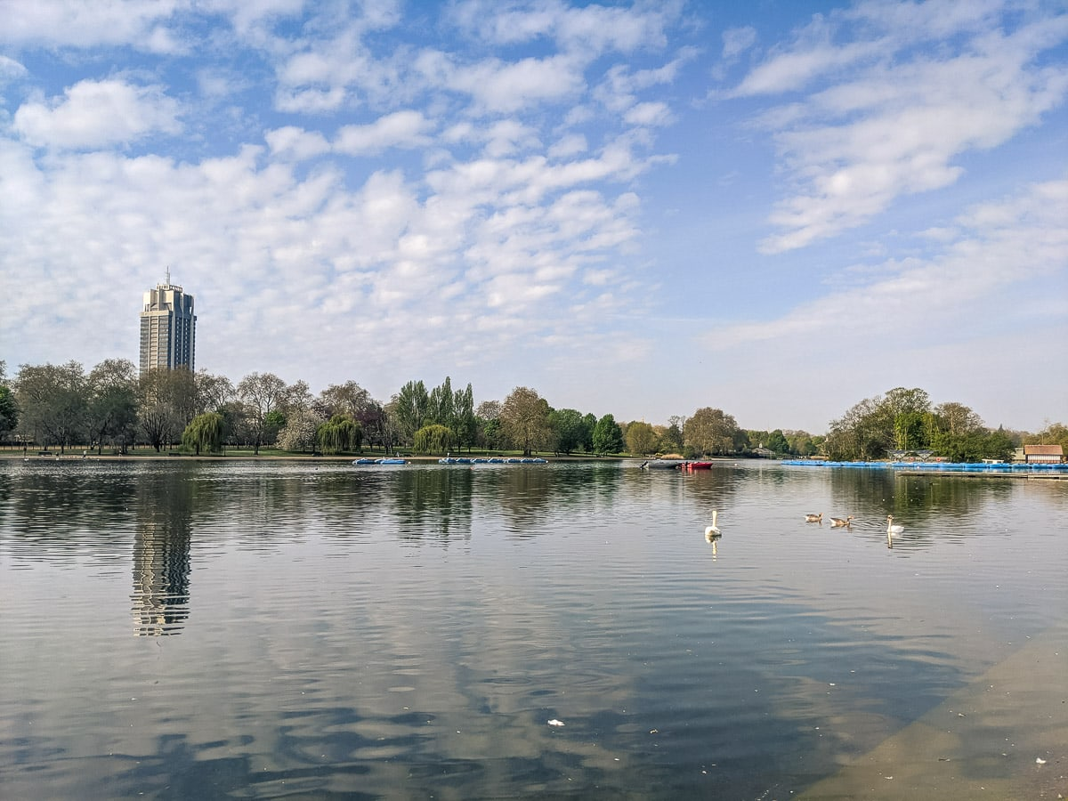 The Serpentine in Hyde Park, London