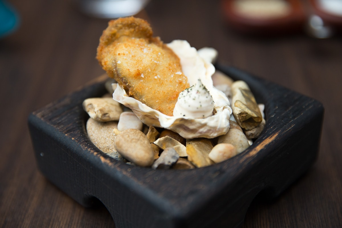 Deep fried oyster at Paul Ainsworth At No.6, Padstow