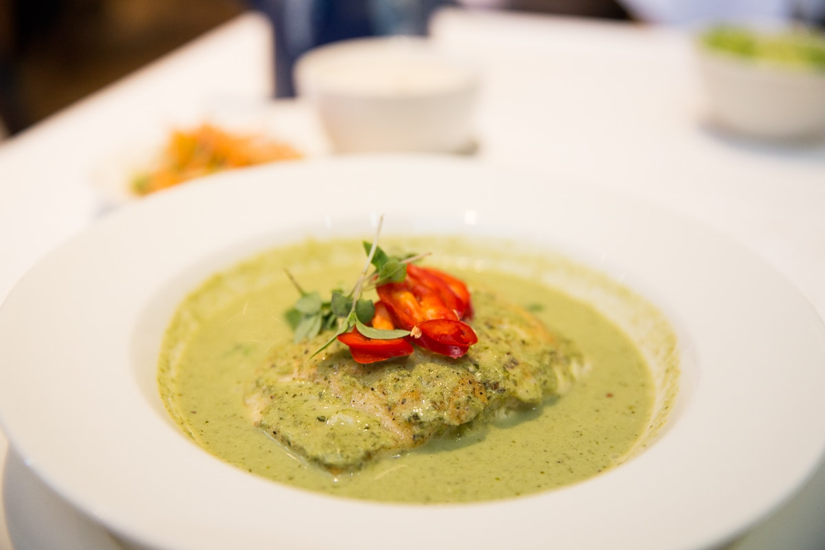 Thai green curry at The Seafood Restaurant, Padstow