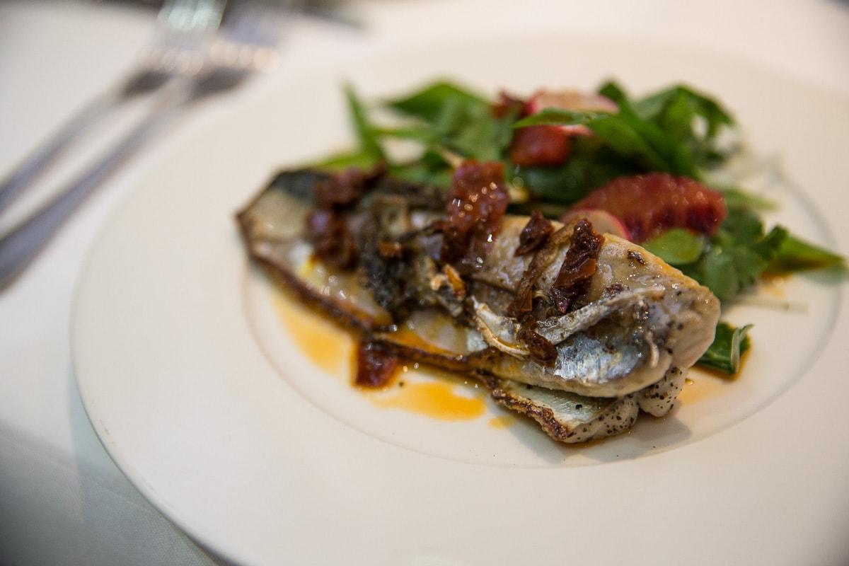 Mackerel starter at The Seafood Restaurant, Padstow
