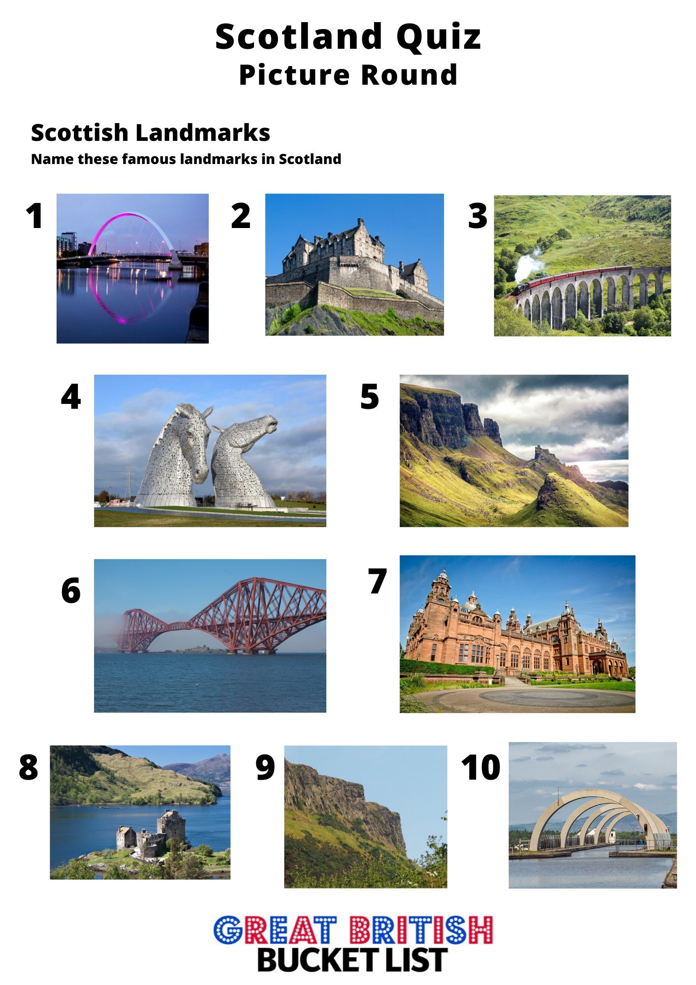 scottish picture quiz