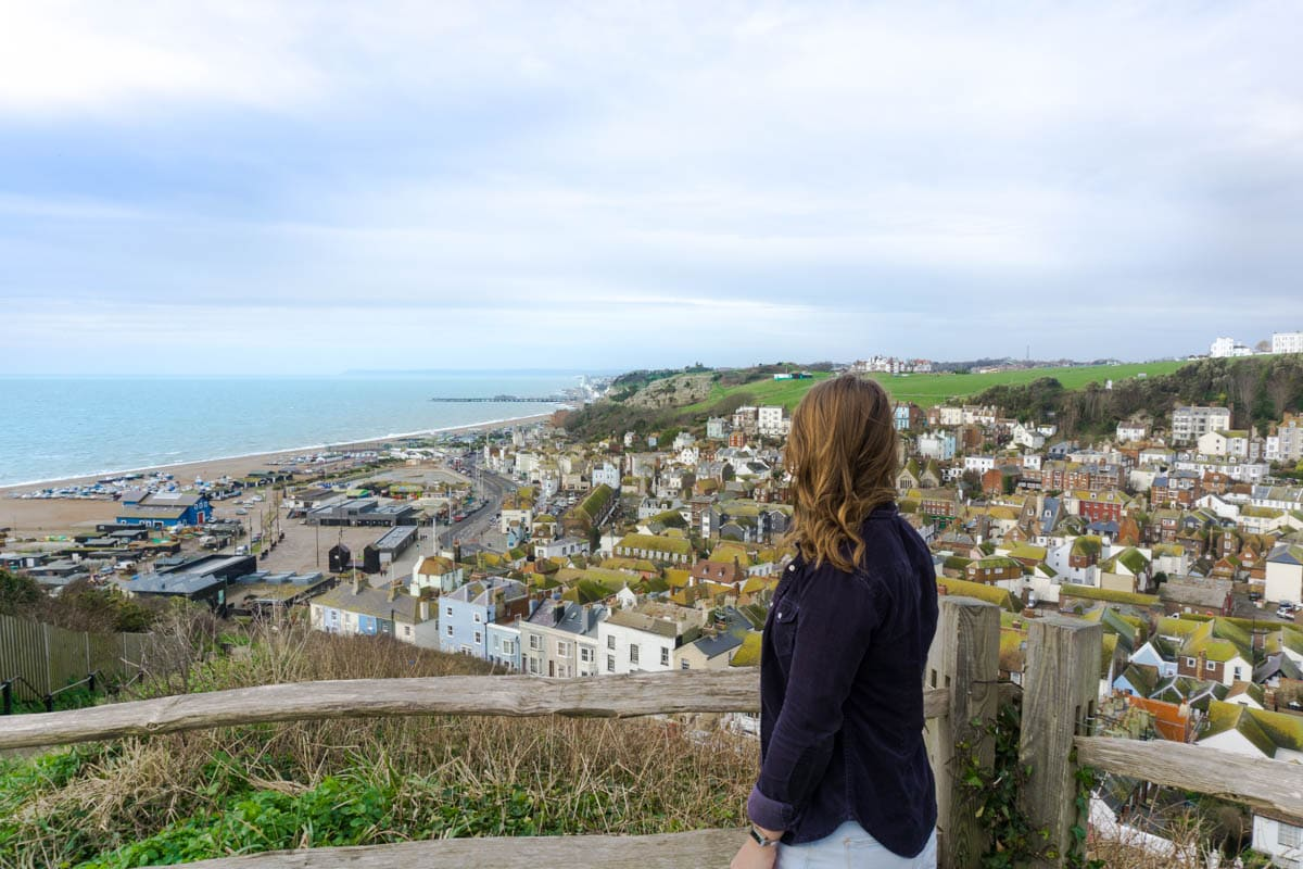 View from Hastings funicular