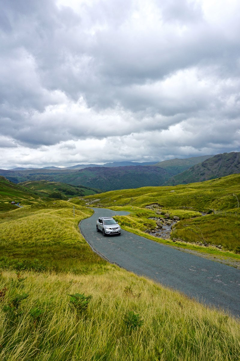 Lake District road trip with epic stormy skies