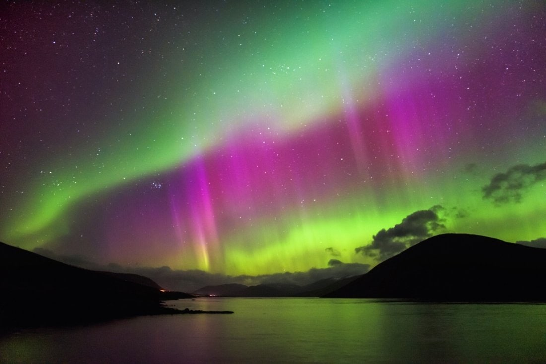 Northern lights, Garve Scottish Highlands