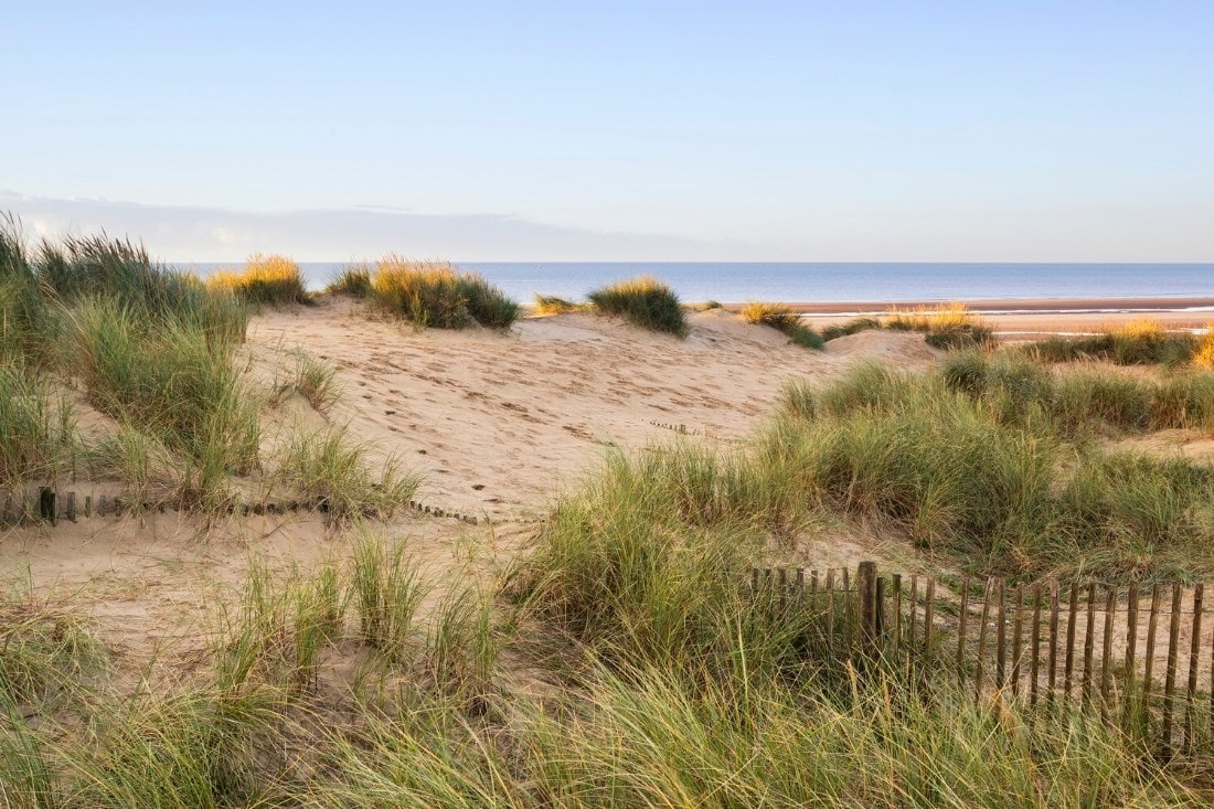 Views over the dunes at Camber Sands