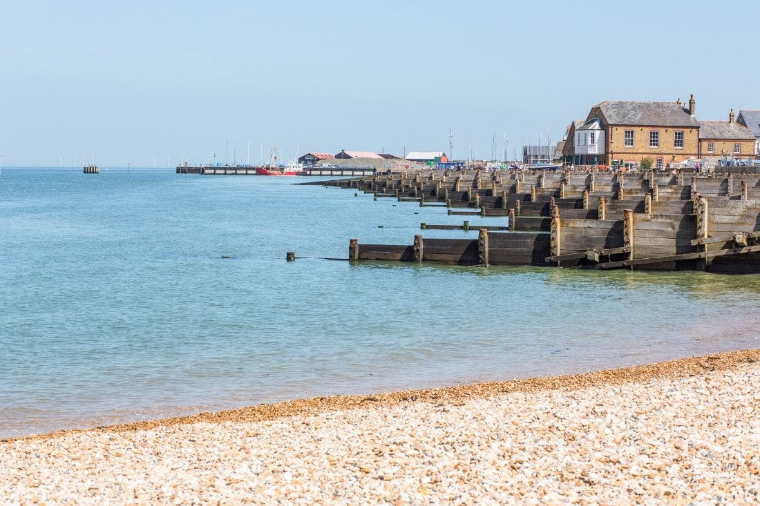 Whitstable Beach, Kent - a great seaside day trip from London