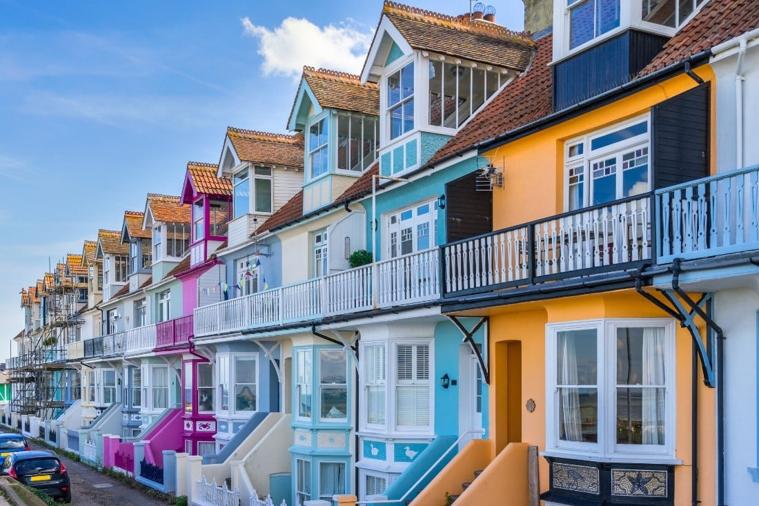 Colourful houses in Whitstable
