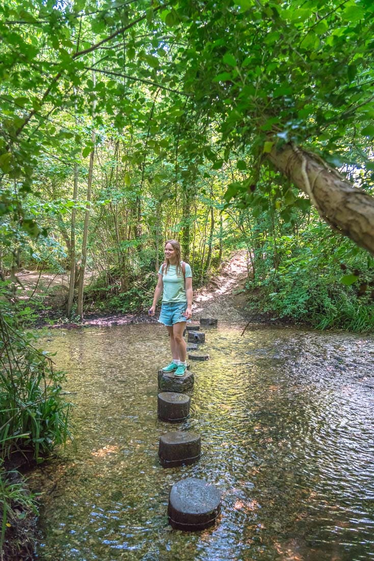 Crossing the River Chess near Chesham