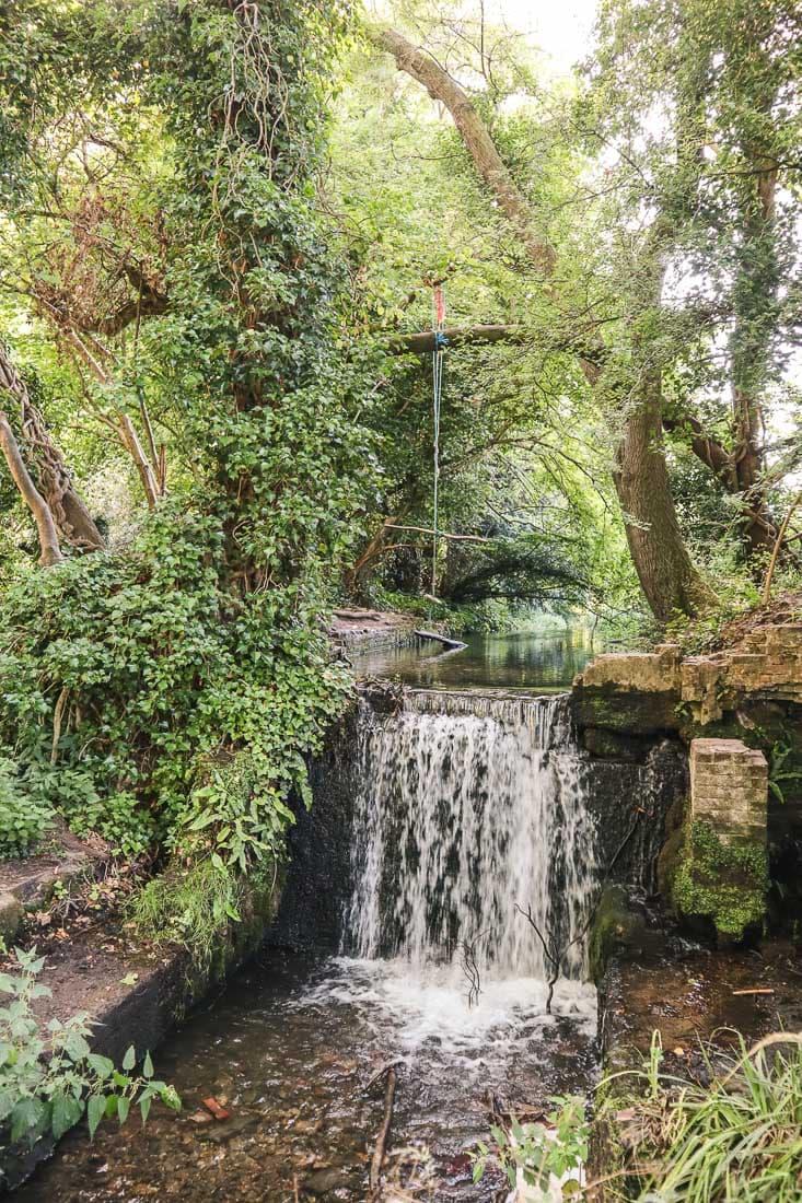 Waterfall and swings in Chesham