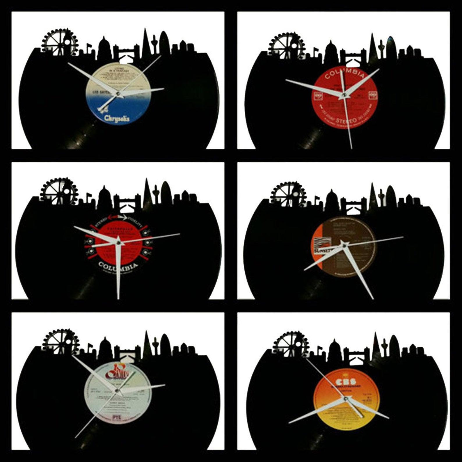 London skyline vinyl clock