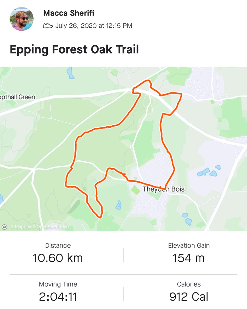 epping forest oak trail map