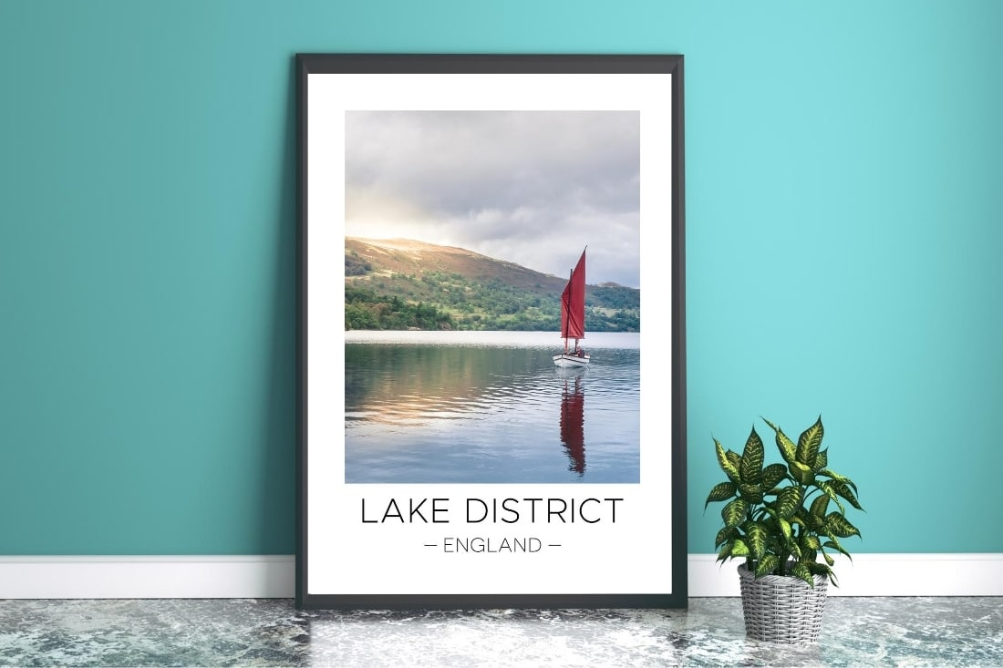 Lake District print on the Travel Print Store