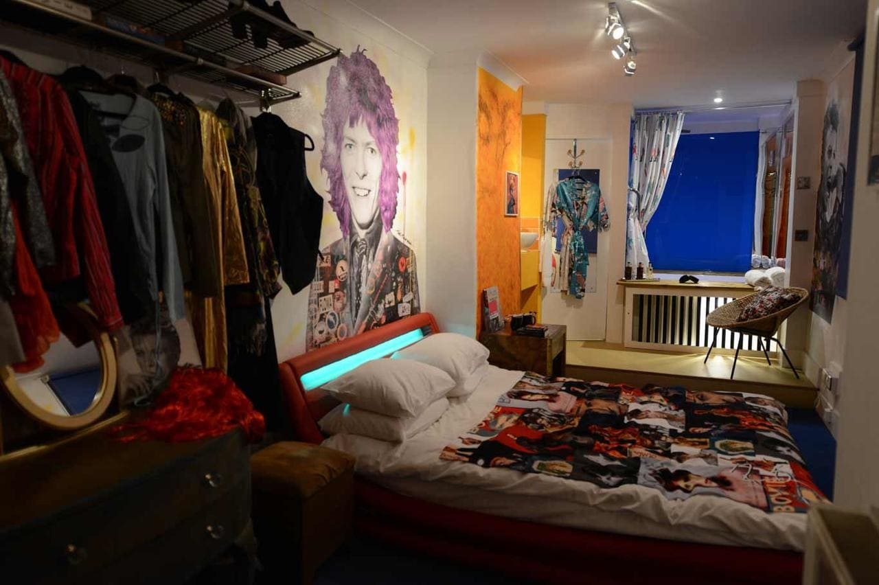 David Bowie room at Hotel Pelirocco, Brighton
