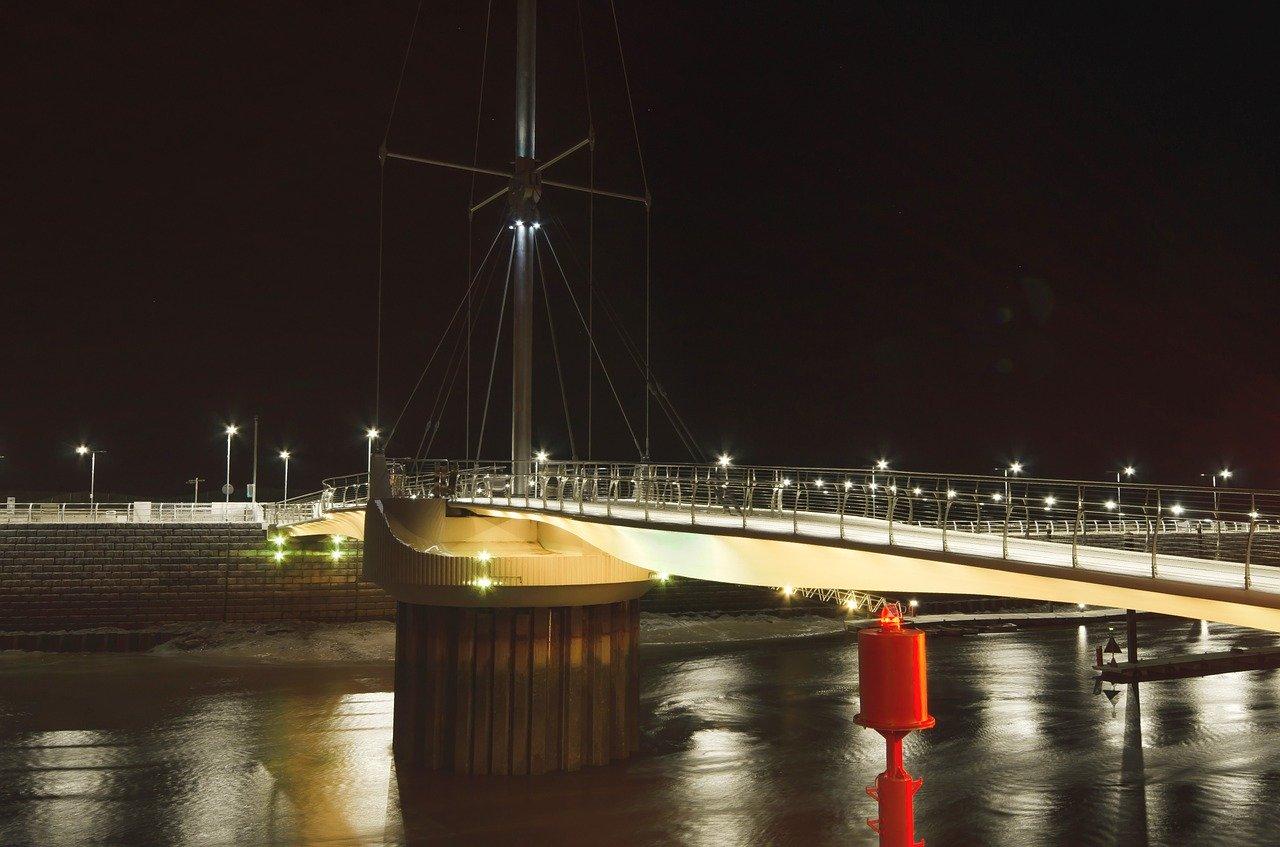 Harbour Bridge in Rhyl, Wales