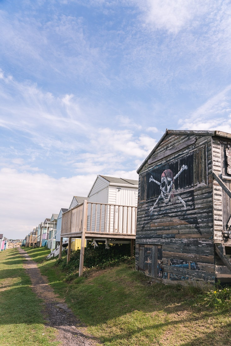 Pirate beach hut in Whitstable