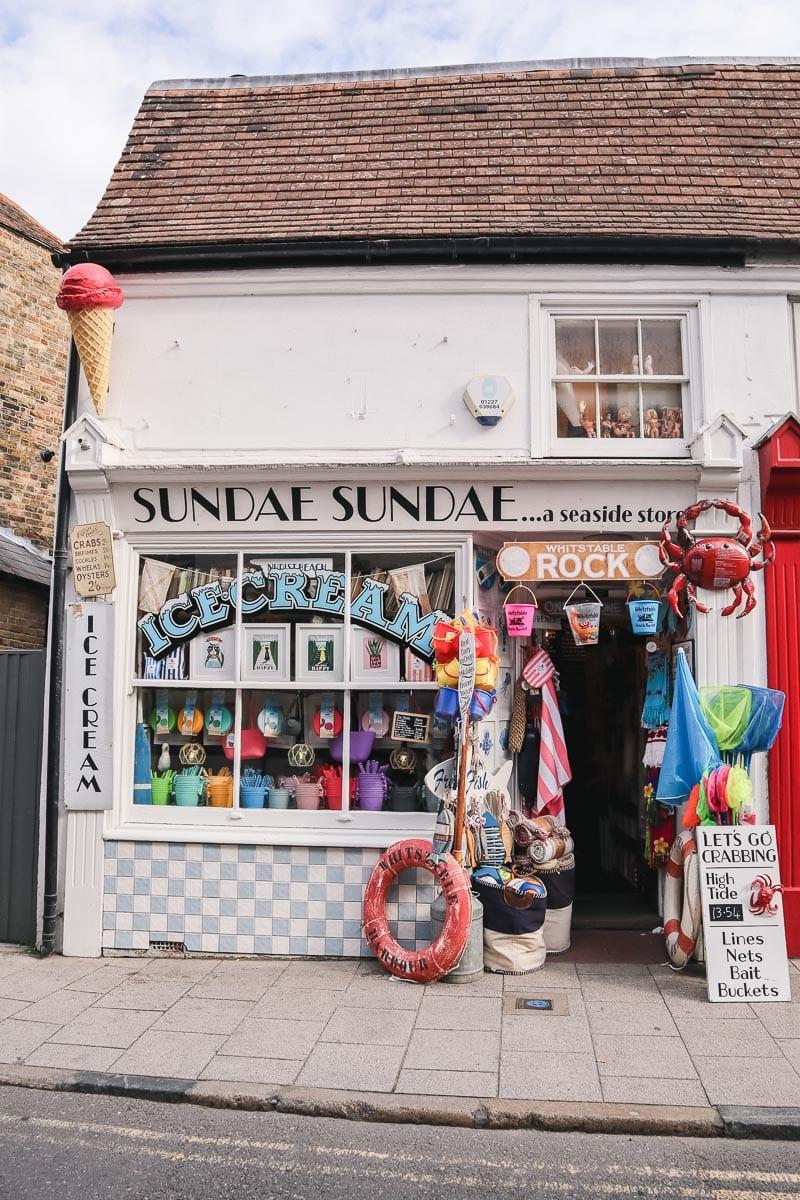 Sundae Sundae ice cream shop in Whitstable