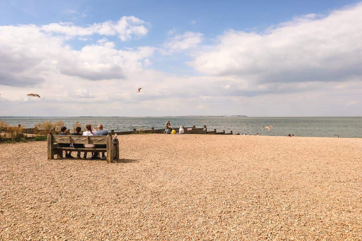 Whitstable beach in the sunshine