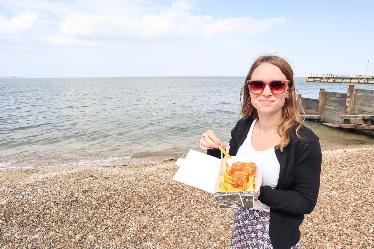 Fish and chips in Whitstable