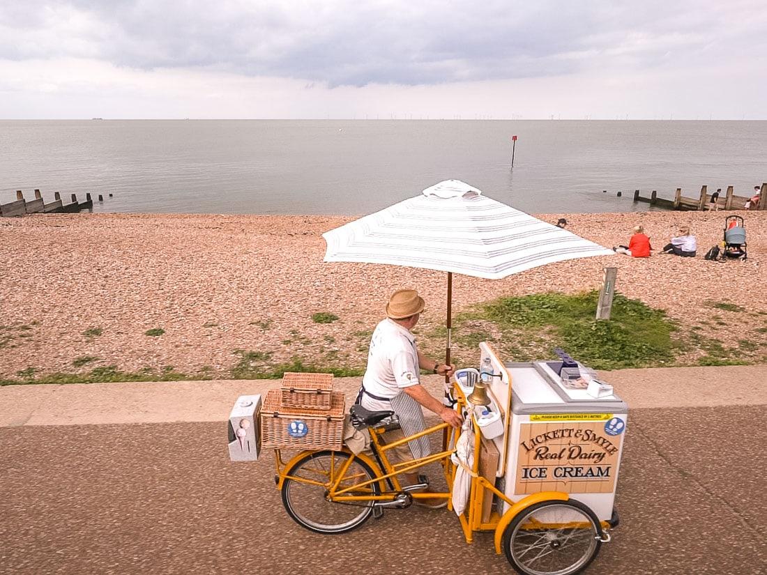 Ice cream seller in Whitstable