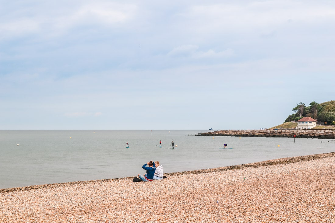 Paddle boarding in Whitstable, Kent