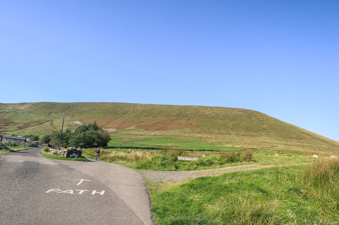 Start of the path for the Pendle Hill walk