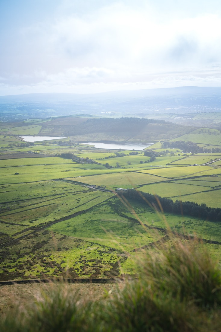 Spectacular views from the top of Pendle Hill