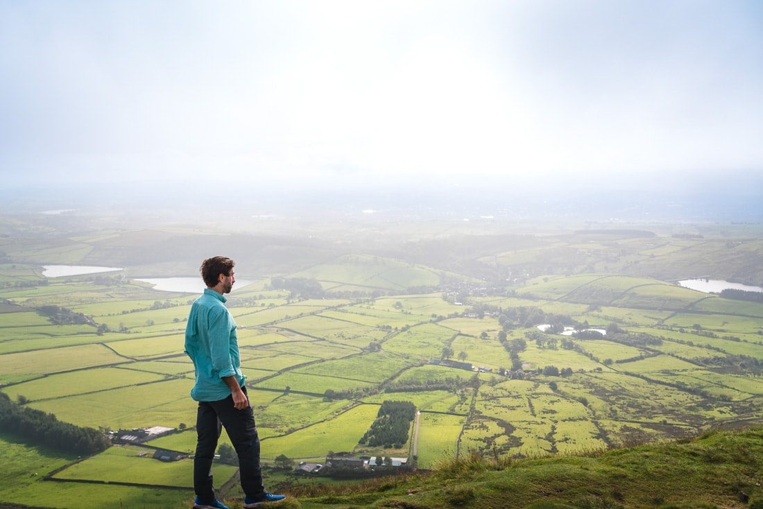 Enjoying the views from Pendle Hill