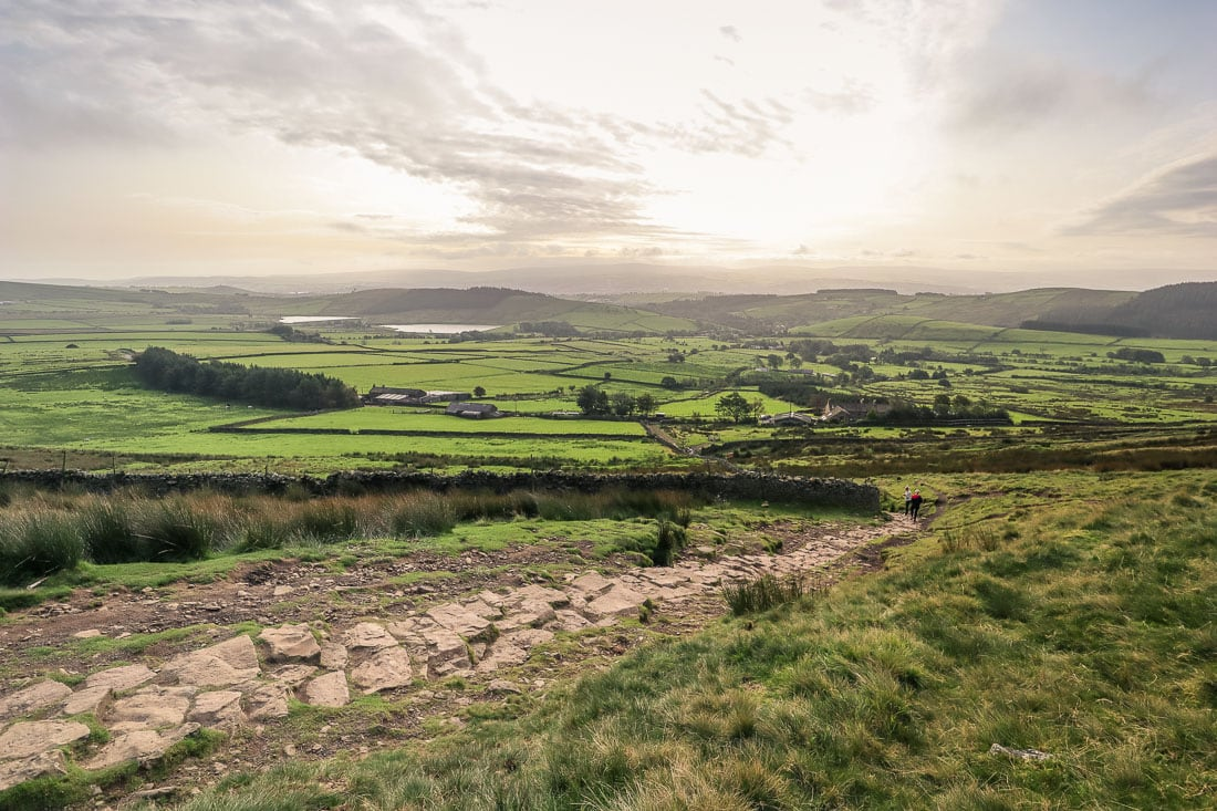 Beautiful countryside views on the walk up Pendle Hill