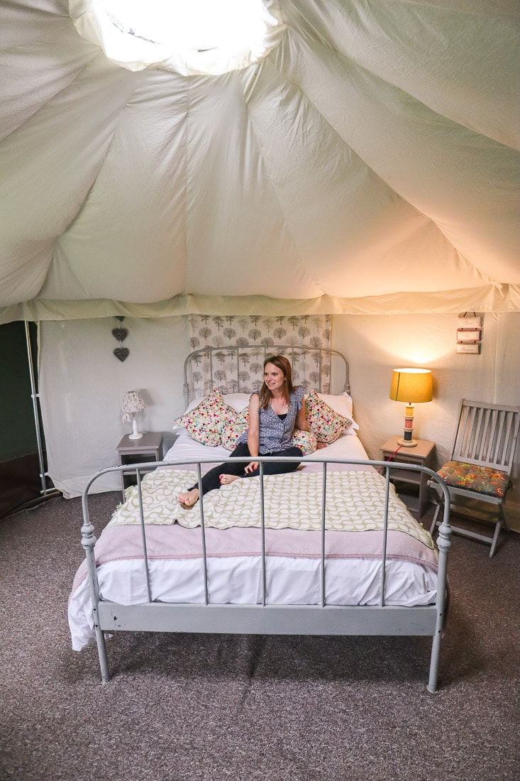 Our yurt at the Red Pump Inn