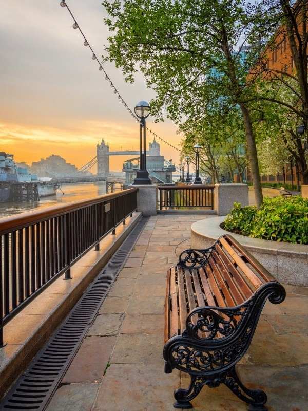 Pretty sunset at Tower Bridge, London
