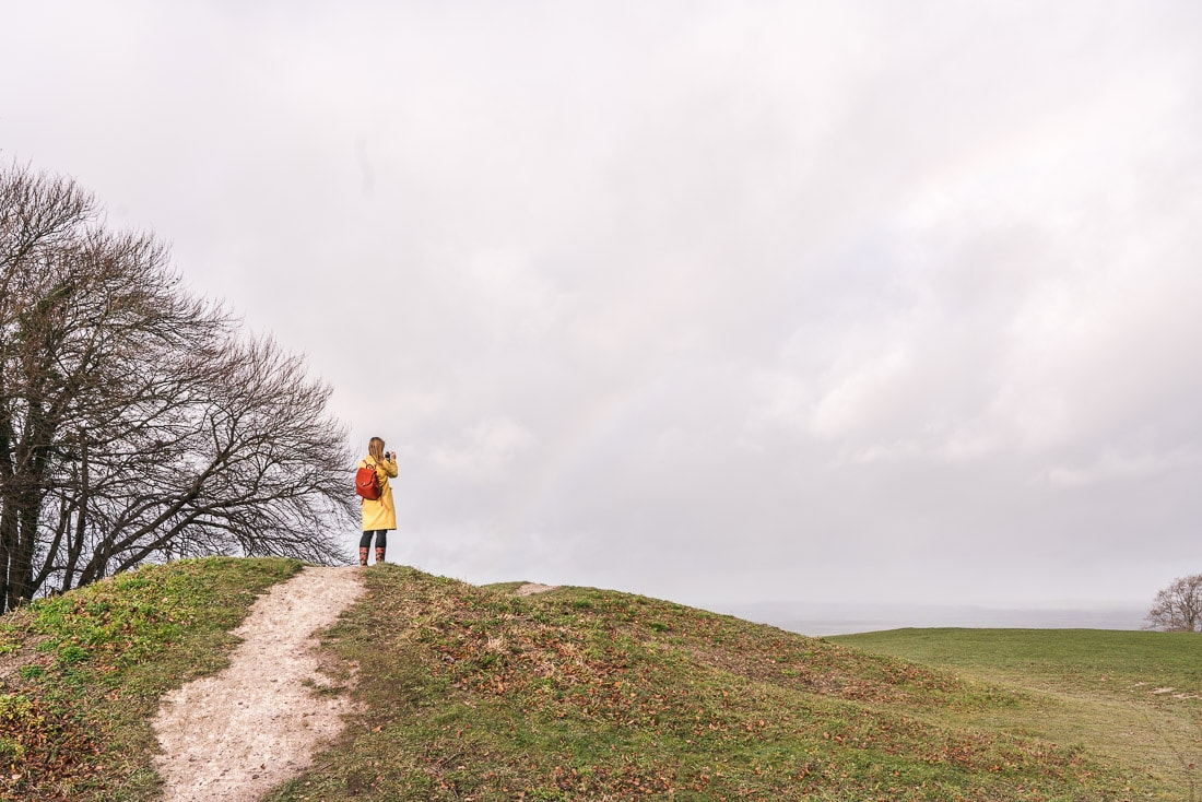 Climbing the Neolithic barrows on Whiteleaf Hill