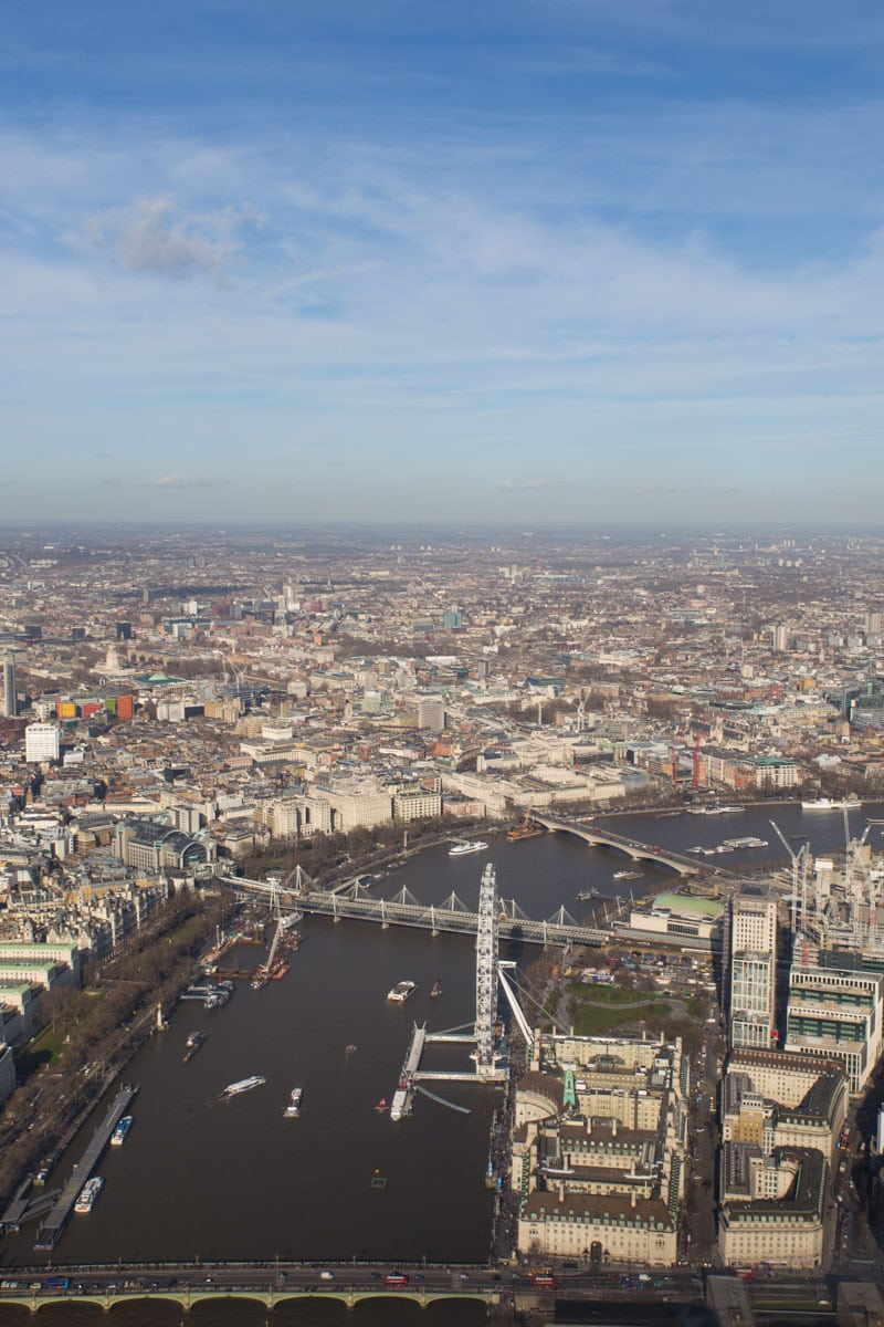 View from the London helicopter tour