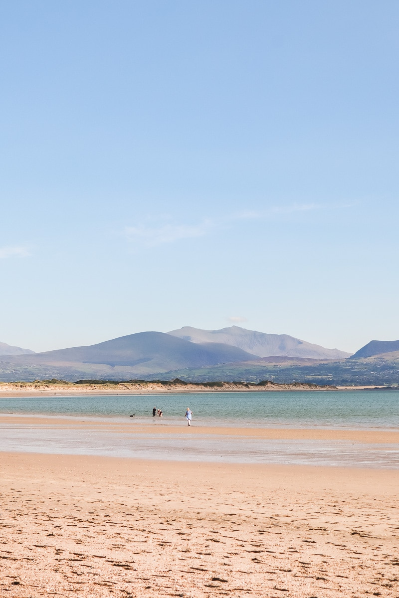 Newborough Beach in Anglesey, North Wales