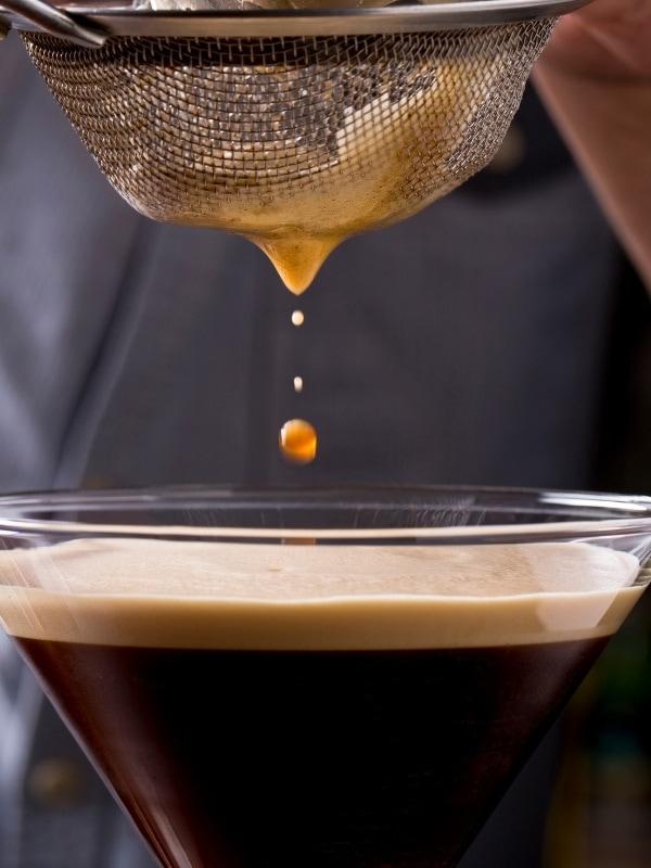 Pouring an Espresso Martini