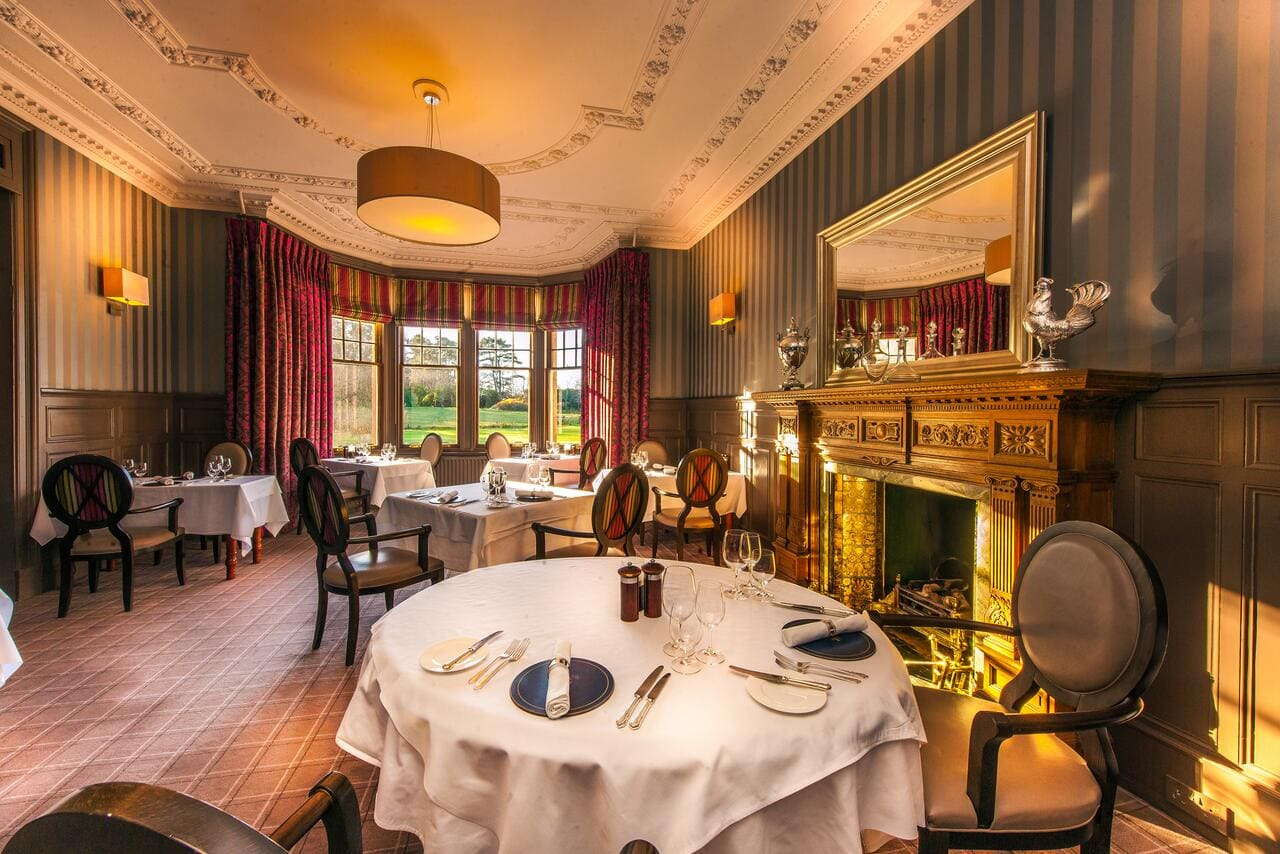 Dining room in the Isle of Eriska Hotel