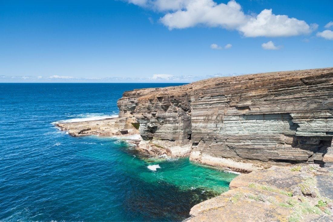 Orkney Islands cliffs